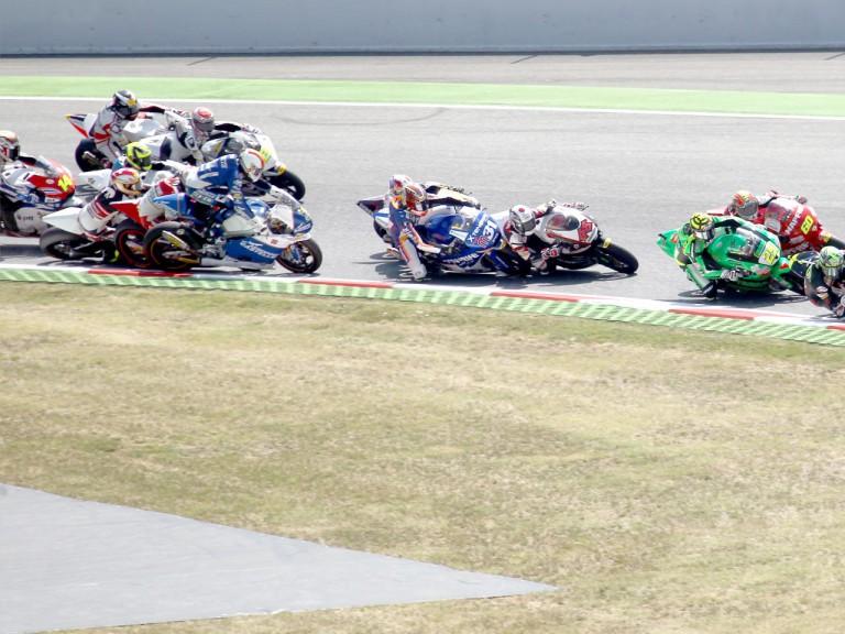Moto2 Crash at the Catalunya Circuit