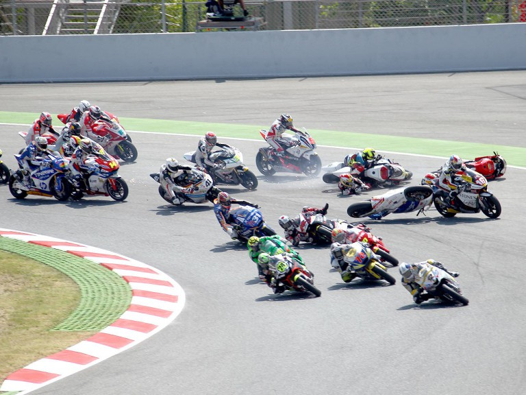 Moto2 Crash at the Catalunya Circuit