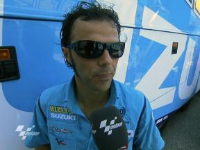 Capirossi feeling better after improvement to seventh