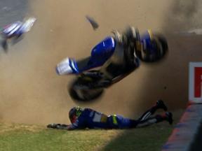 Catalunya 2010 - Moto2 - Race - Action - Carmelo Morales - Crash