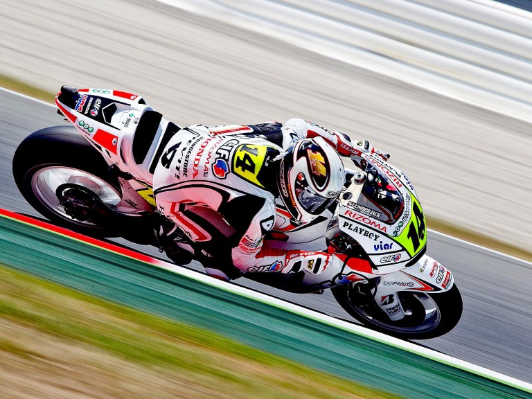 Randy de Puniet in action at the Catalunya Circuit