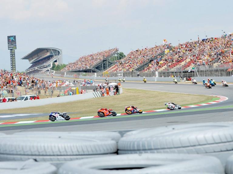 MotoGP action at the Catalunya Circuit