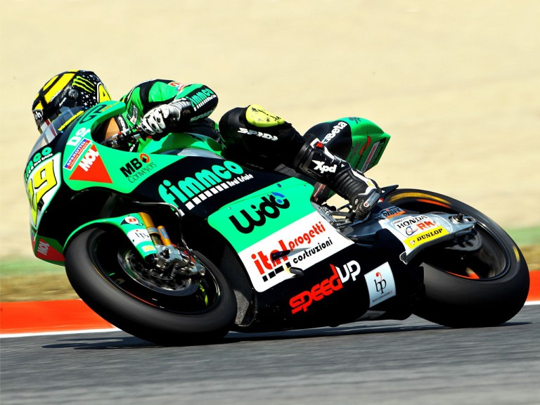 Andrea Iannone on track at the Catalunya Circuit