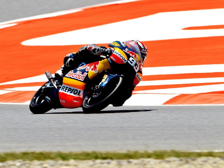 Marc Marquez in action at the Catalunya Circuit