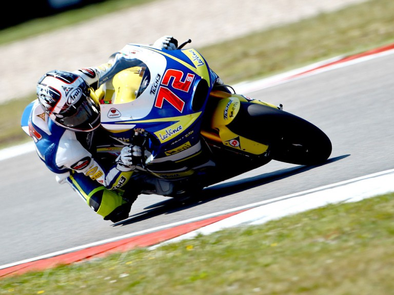 Yuki Takahashi in action at the Catalunya Circuit