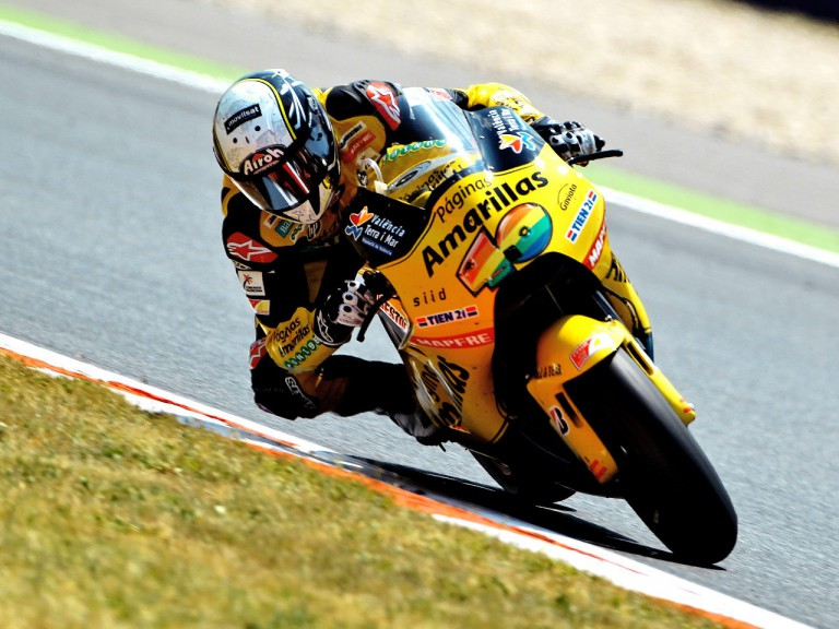 Héctor Barberá ina ction at the Catalunya Circuit