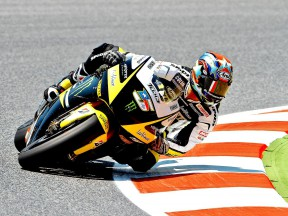 Colin Edwards on track at the Catalunya Circuit