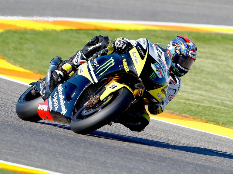 Colin Edwards in action in Valencia