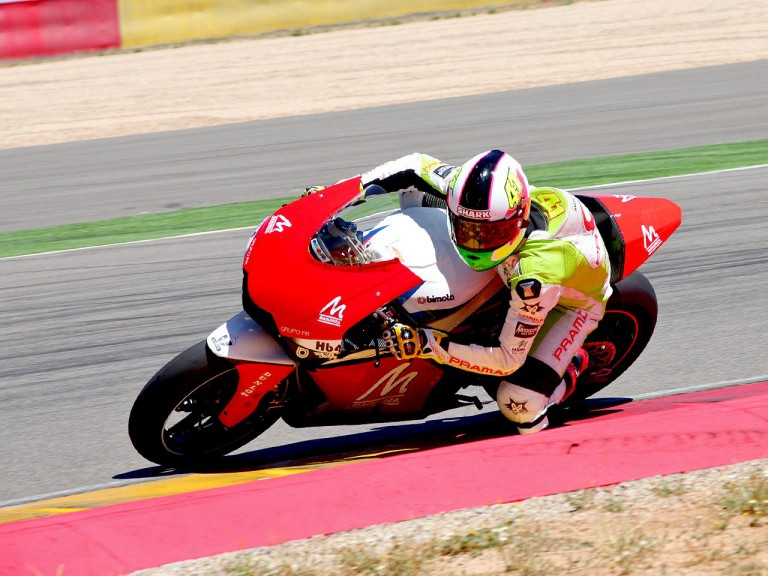 Aleix Espargaró in action at the  Aragon Motorland Test