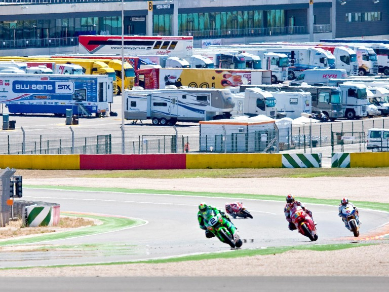 Moto2 Action at the Aragon Motorland Test