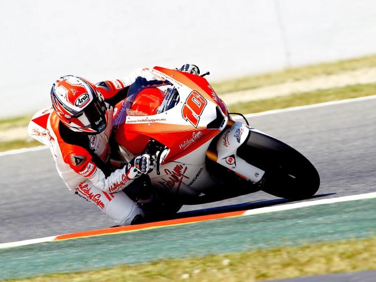 Fonsi Nieto on track at the Catalunya Circuit