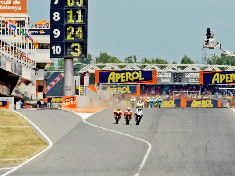 MotoGP action at the Catalunya Circuit