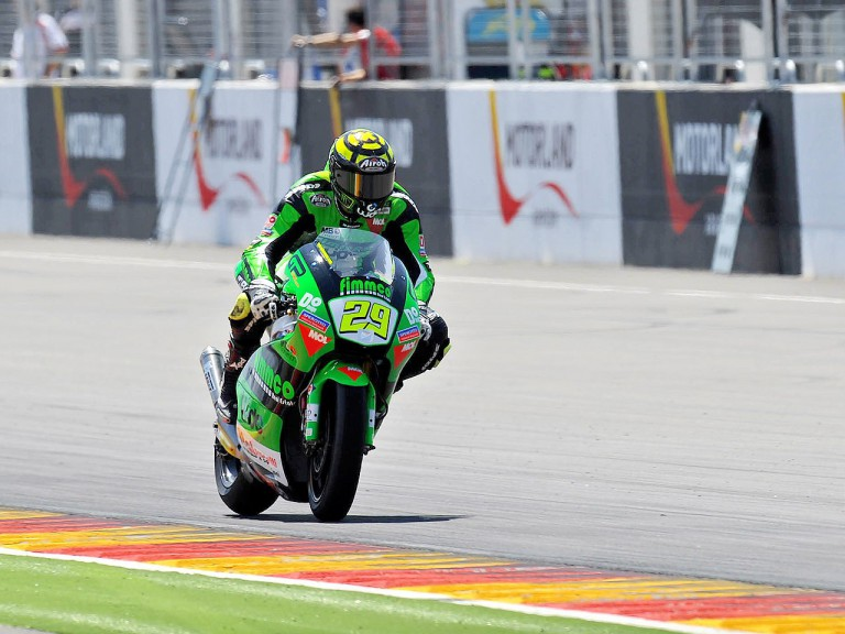 Iannone in action during the second day of testing at Motorland Aragon