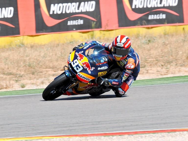 Marquez testing at Motorland Aragon