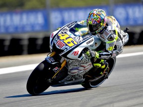 Valentino Rossi on track in Laguna Seca