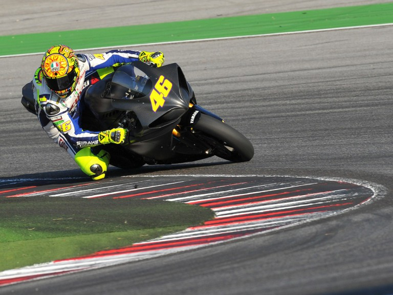 Valentino Rossi back on track for a private test in Misano