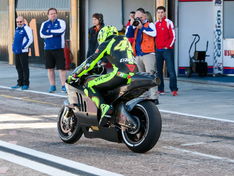 Valentino Rossi at Valencia test