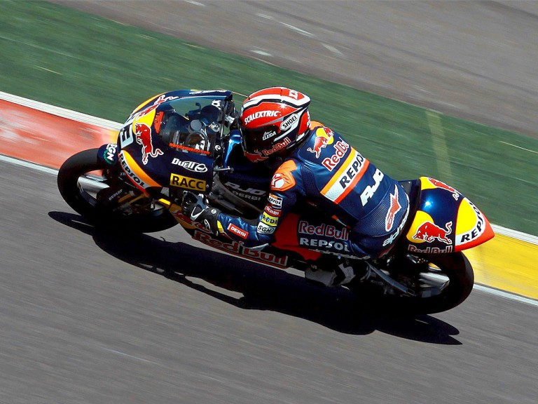 Marc Marquez testing at Motorland Aragon