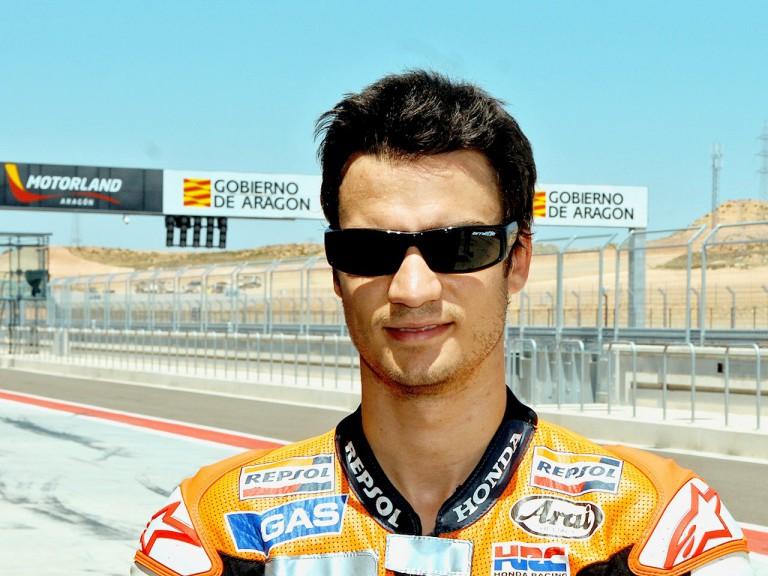 Dani Pedrosa visits Motorland Aragón circuit