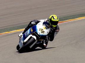 Roberto Rolfo testing at Motorland Aragon
