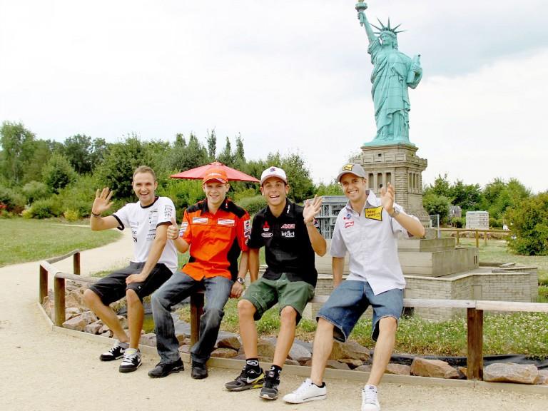 Tode, Bradl, Luthi and Cortese visit Miniwelt park