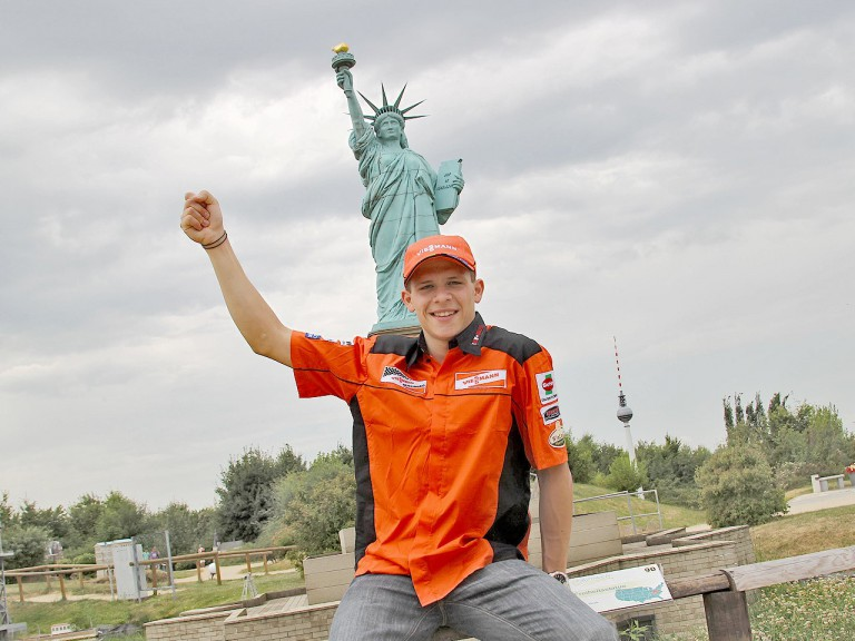 Stefan Bradl enjoys at Miniwelt park