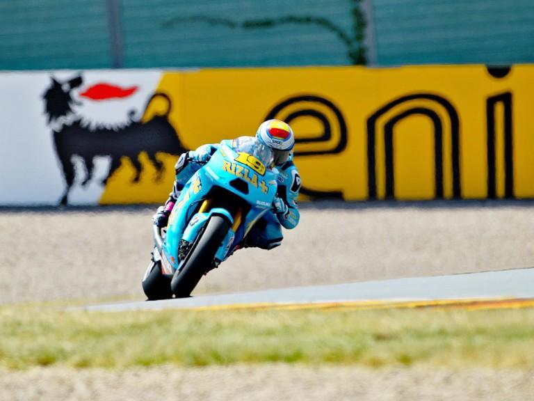 Alvaro Bautista on track in Sachsenring