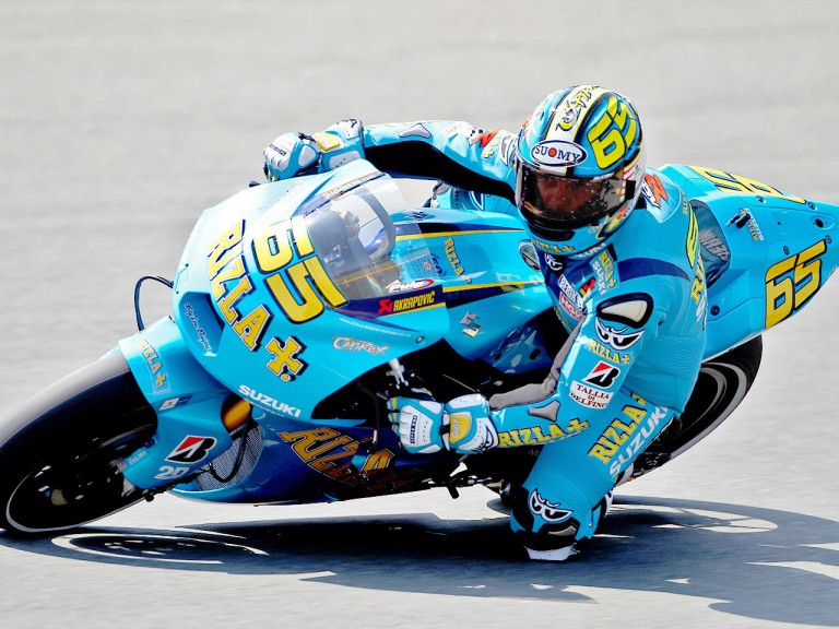 Loris Capirossi on track in Sachsenring