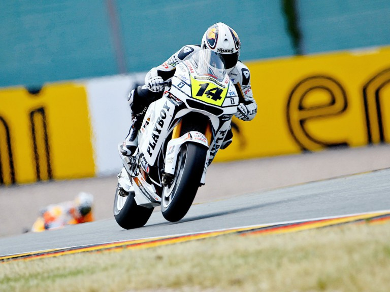 Randy de Puniet on track in Sachsenring