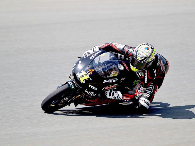 Sandro Cortese in action in Sachsenring