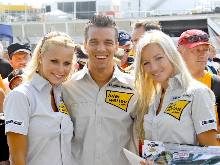 Interwetten De Angelis at the paddock in Sachsenring