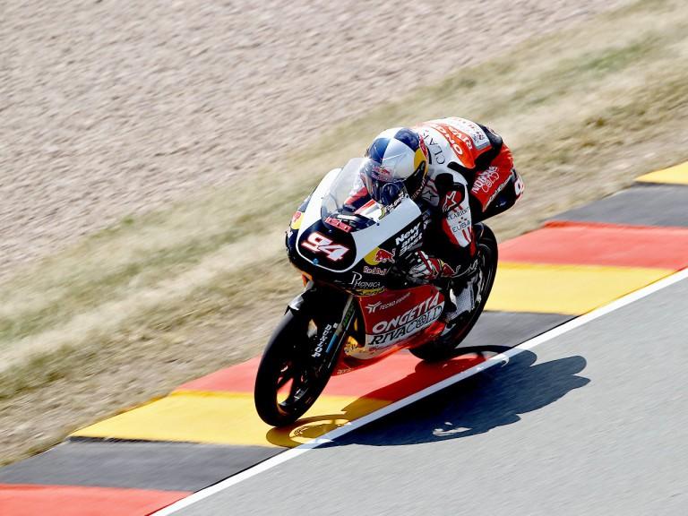 Jonas Folger in action in Sachsenring