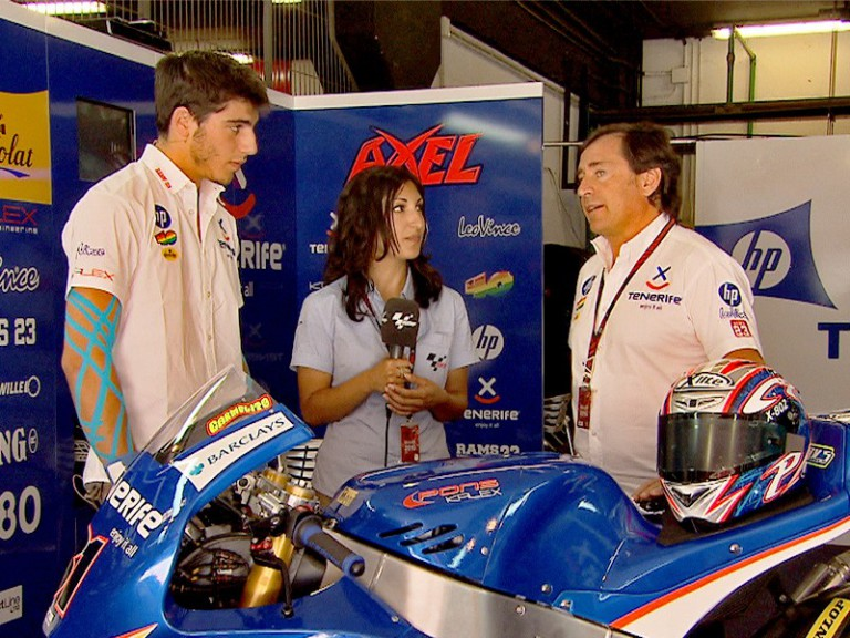Sito and Axel Pons at the Tenerife 40 Pons garage