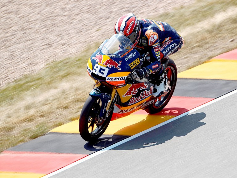 Marc Marquez on track in Sachsenring