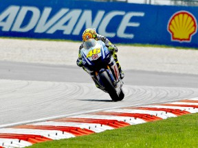 Valentino Rossi in action at Sepang