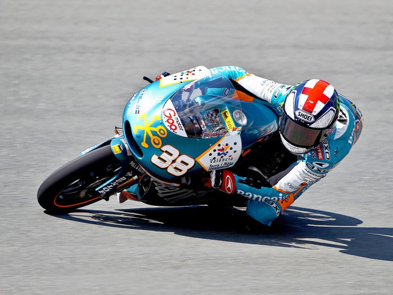 Bradley Smith in action in Sachsenring