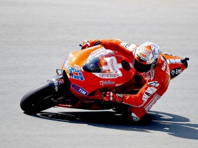 Casey Stoner on track in Sachsenring