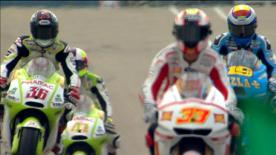 The Fiat Yamaha rider secured pole position in a session that was red flagged midway through due to his M1 spilling oil on the track, an incident that resulted in crashes for Ben Spies and Randy de Puniet. Casey Stoner and Dani Pedrosa will join the Championship leader on the front row, and Valentino Rossi will start from fifth.