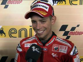 Stoner satisfied with second spot in QP