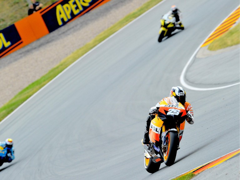 MotoGP action in Sachsenring