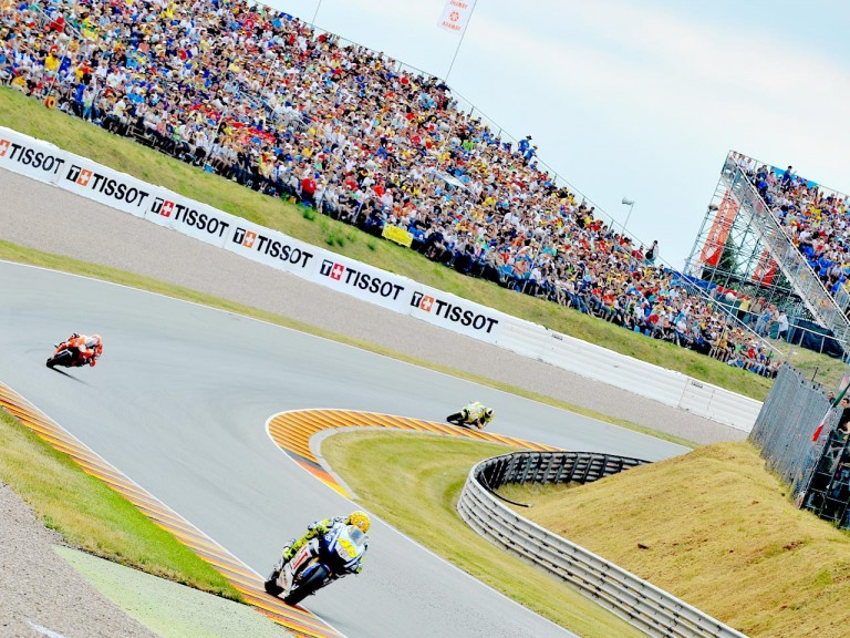 MotoGP group in action in Sachsenring