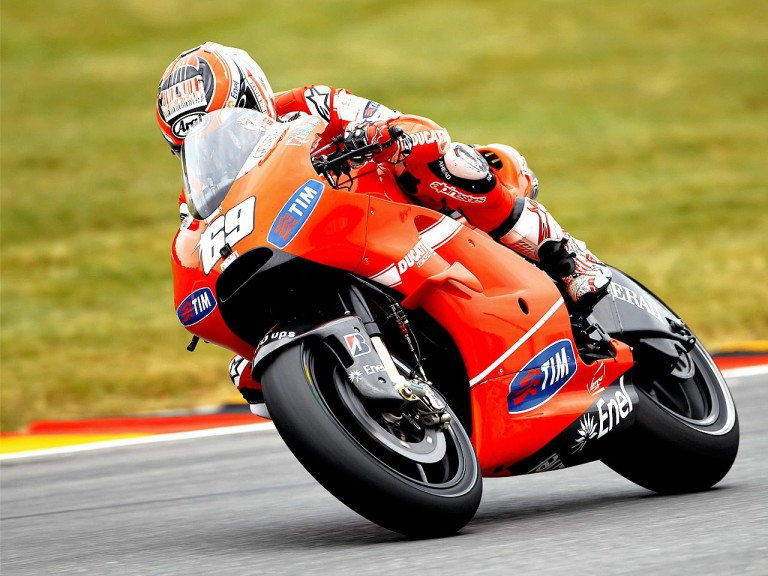 Nicky Hayden on track in Sachsenring