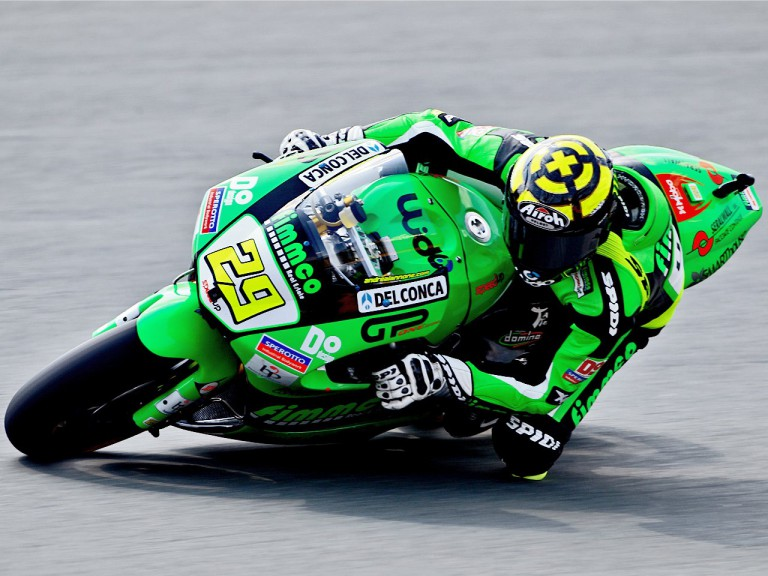 Andrea Iannone in action in Sachsenring