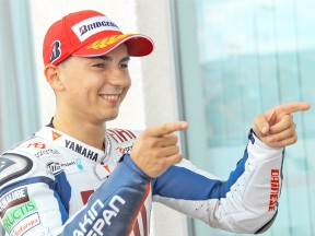 Jorge Lorenzo after the QP in Sachsenring