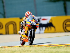 Marc Marquez in action in Sachsenring