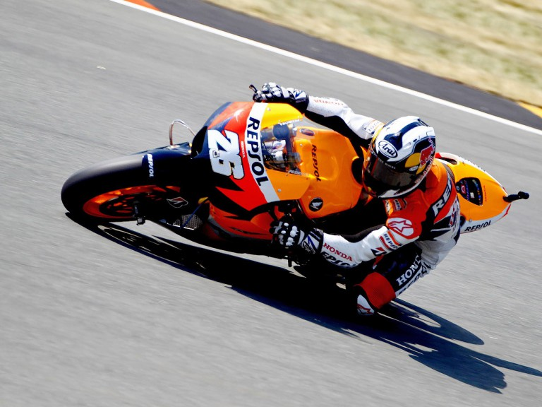 Dani Pedorsa on track in Sachsenring
