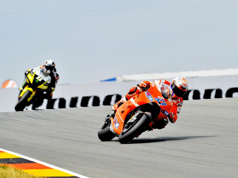 Stoner riding ahead of Spies in Sachsenring