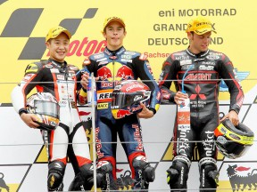 Koyama, Marquez and Cortese on the podium in Sahcsenring
