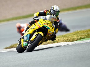 Héctor Barberá in action in Sachsenring