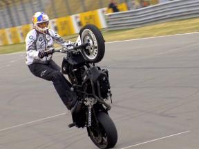 Stunt rider Chris Pfeiffer